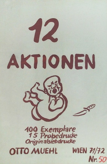 12 Aktionen Mappe (cover sheet of the folder ), 1971