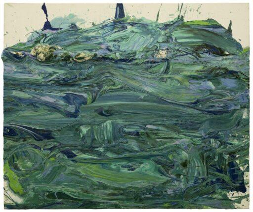 Untitled (Rutschbild), 1988, 150 x 180 cm, acryl on canvas